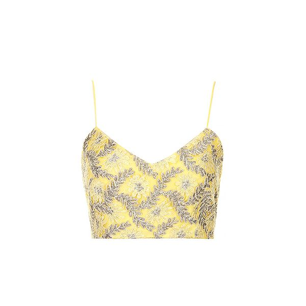 Topshop Limited Edition Silver Lace Bralet