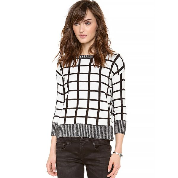 BB Dakota Collective Roxana Window Pane Sweater