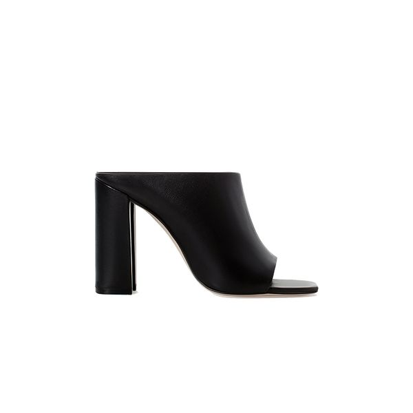 Zara Leather High Heel Mules