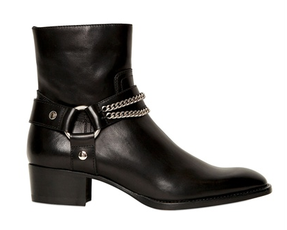 Saint Laurent 40mm Rock Zipped Calfskin Boots