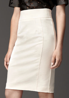 Burberry London Compact Jersey High-Waist Pencil Skirt