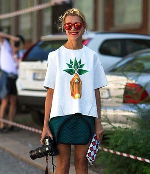 4 Pineapple Print Street Style Looks We Love
