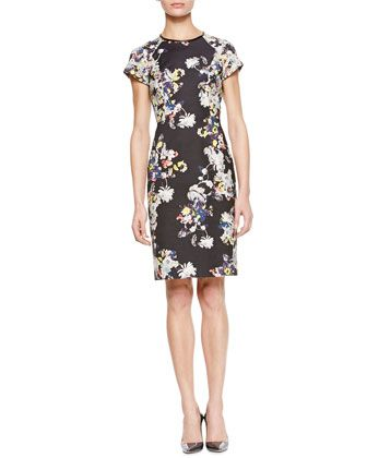 Erdem Marta Short Sleeve Dress