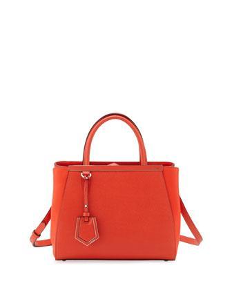 Fendi 2Jours Saffiano Mini Tote Bag
