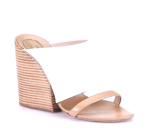 Chloé Leather Double-Band Wedge Sandals
