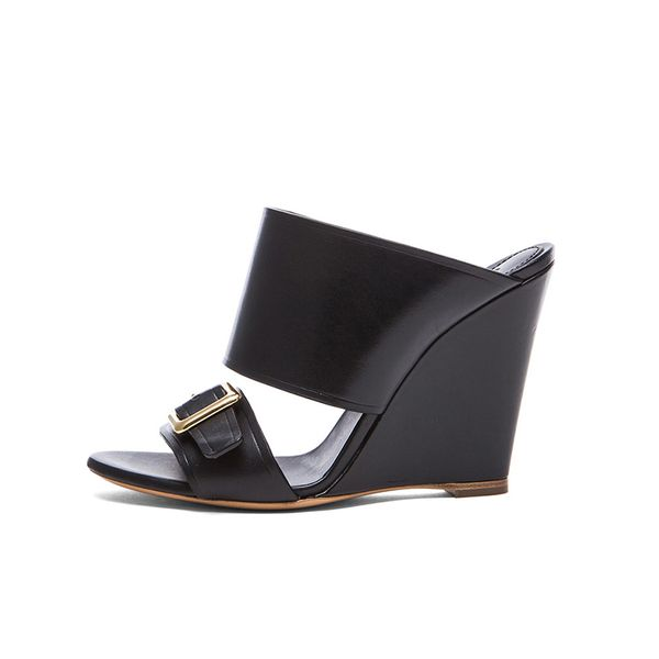 Chloe Strap Leather Mules