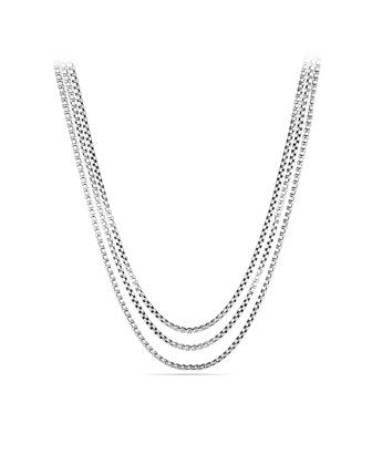 David Yurman Three-Row Box Chain Necklace