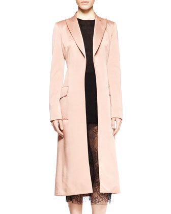 Wes Gordon Incollato Sofie Satin Long Coat