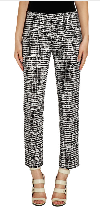 Derek Lam Tweed-Print Jacquard Cigarette Pants