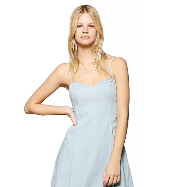 BDG Chambray Slip Dress