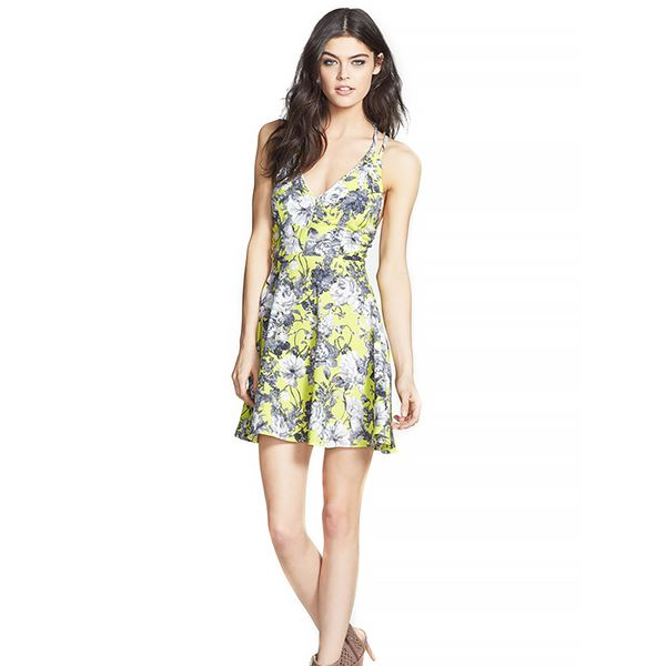 Dirty Ballerina Cross Strap Floral Dress