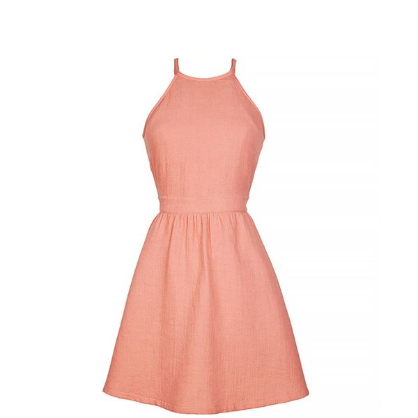dELiA*s Halter Top Terry Skater Dress