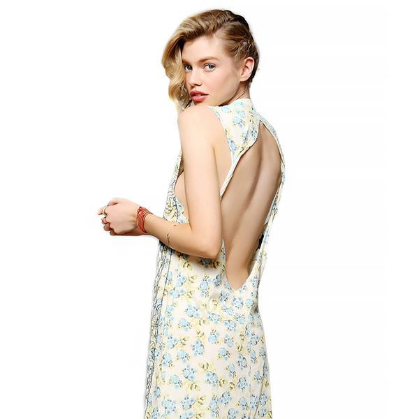 DOE Tarot Floral Knit Slip Dress