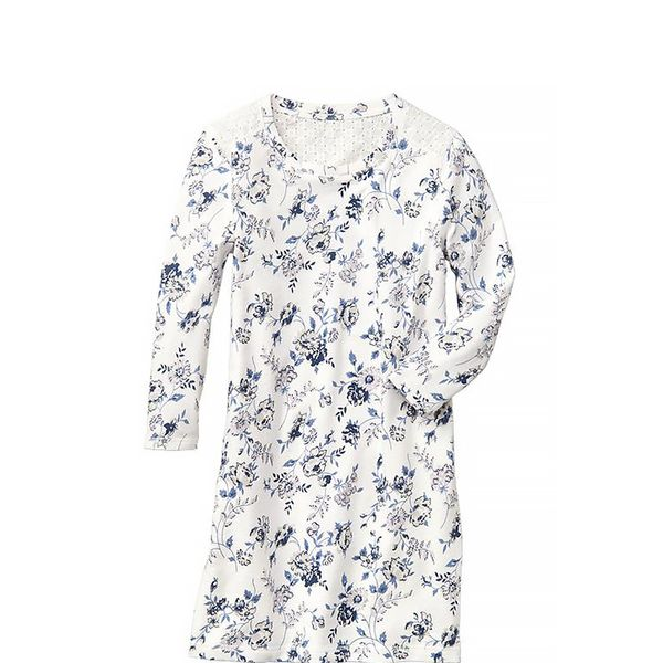 Gap Eyelet-Back Floral Sweatshirt Dress