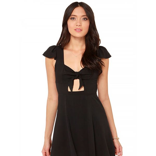 Lulu*s Tie Spell Black Dress