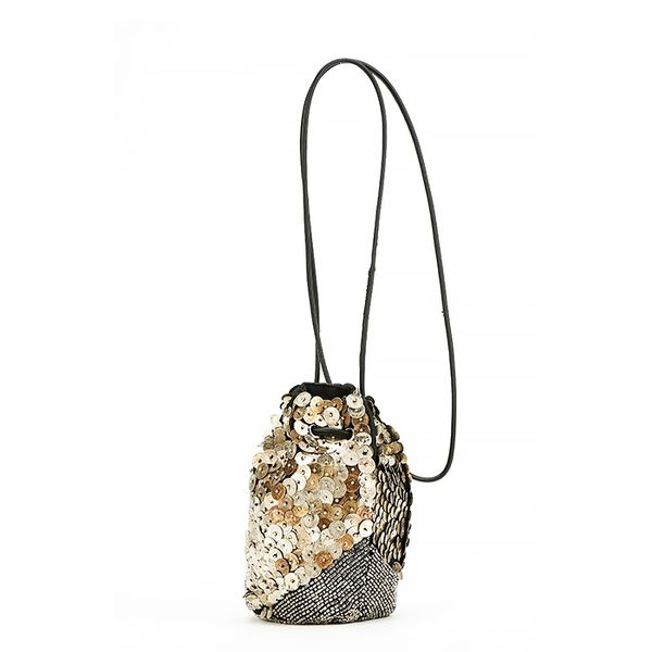 Ecote Nala Beaded Crossbody Pouch Bag
