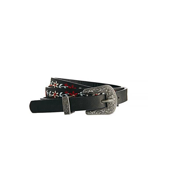 Asos Skinny Embroidery Western Buckle Waist Belt