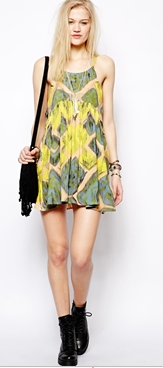 Somedays Lovin Modern Love Ikat Print Sundress