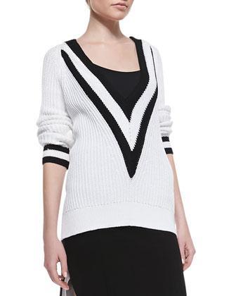 Rag & Bone Talia Cotton V-Neck Pullover
