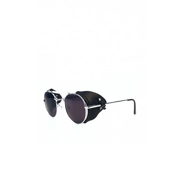 Styligion Technotronic Metal and Leather Sunglasses