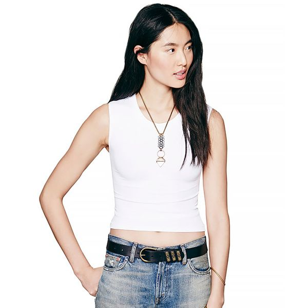 Free People Cropped Muscle Tank
