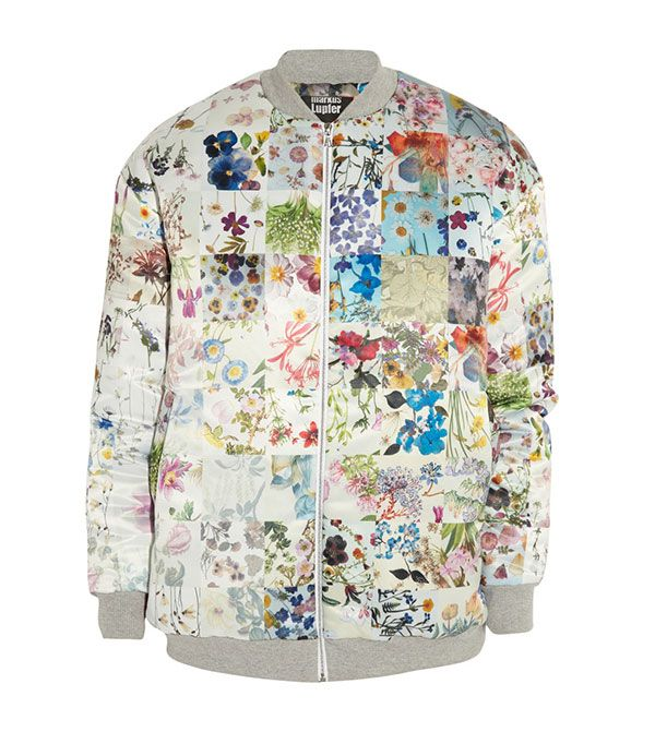 Markus Lupfer Printed Satin Bomber Jacket ($860)
