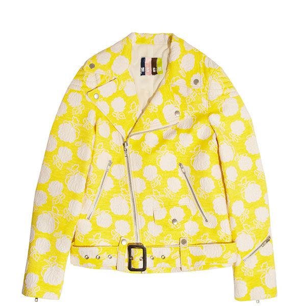MSGM Cotton-Blend Jacquard Biker Jacket
