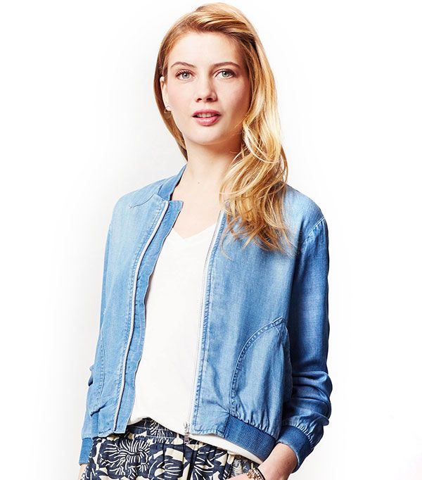 Cloth & Stone Chambray Bomber ($118)