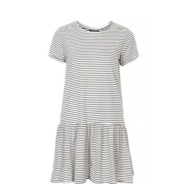 Topshop Dropped Waist Stripe Tunic