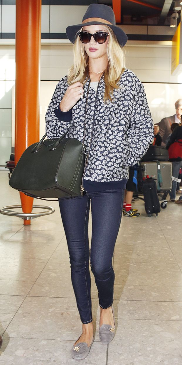 Rosie Huntington-Whiteley's Polished Airport Style.