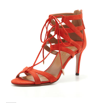Aquazzura Beverly Hills Lace-Up Sandals