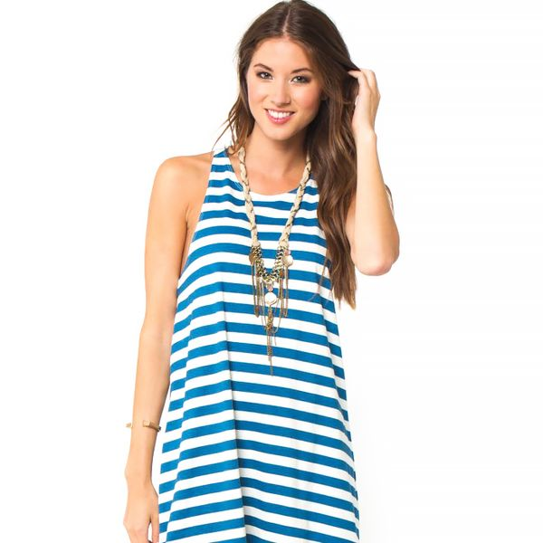 O'Neill Natalia Blue Striped Dress