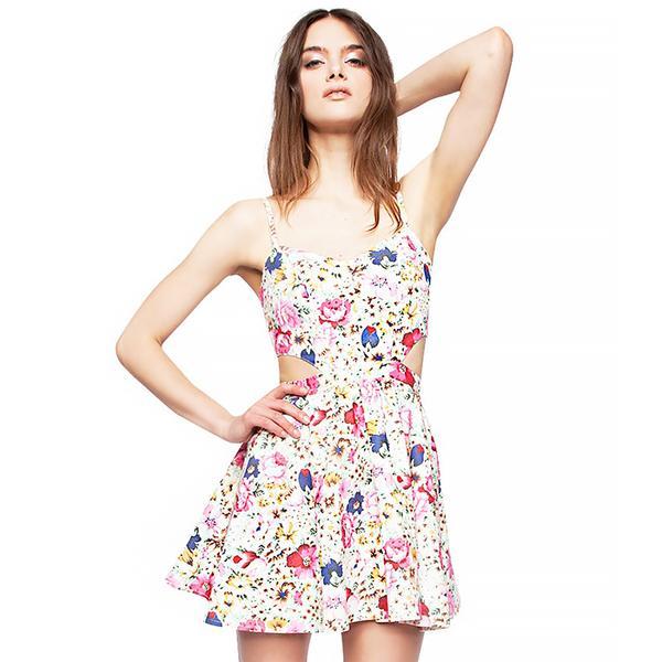 Pixie Market Bloom Cut Out Dress