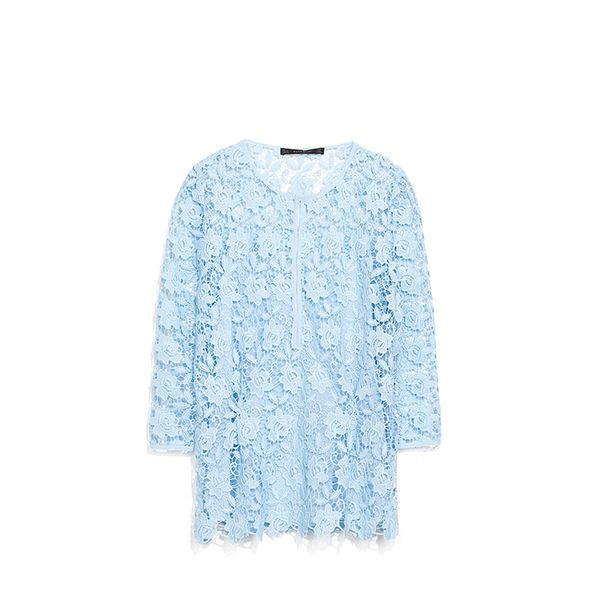 Zara Guipure Lace Top