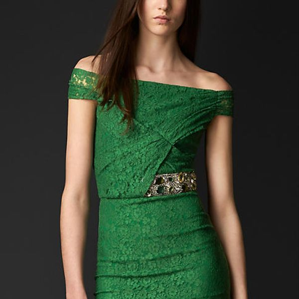 Burberry Prorsum Gem Embellished Lace Dress