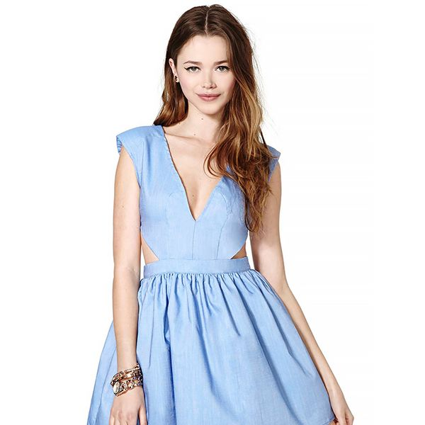 Nasty Gal Chambray Dress