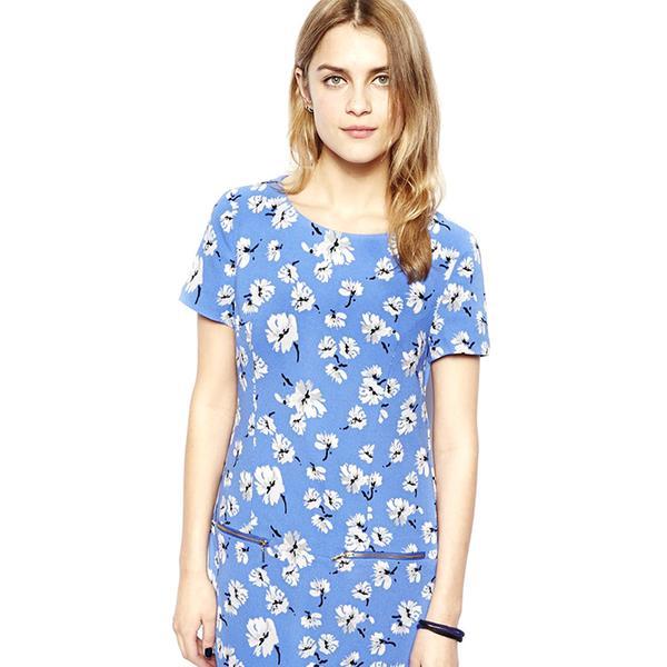 New Look Printed Crepe Dress