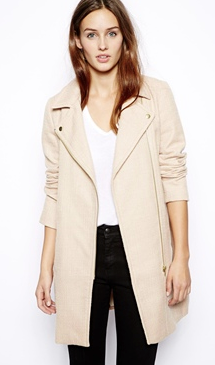 Oasis Neutral Biker Coat