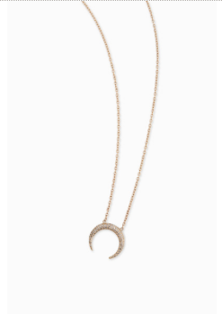 Jacquie Aiche Diamond Mini Crescent Necklace