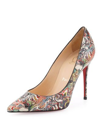 Christian Louboutin Decollete Python Pumps