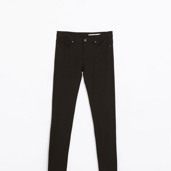 Zara Stretch Denim Trousers