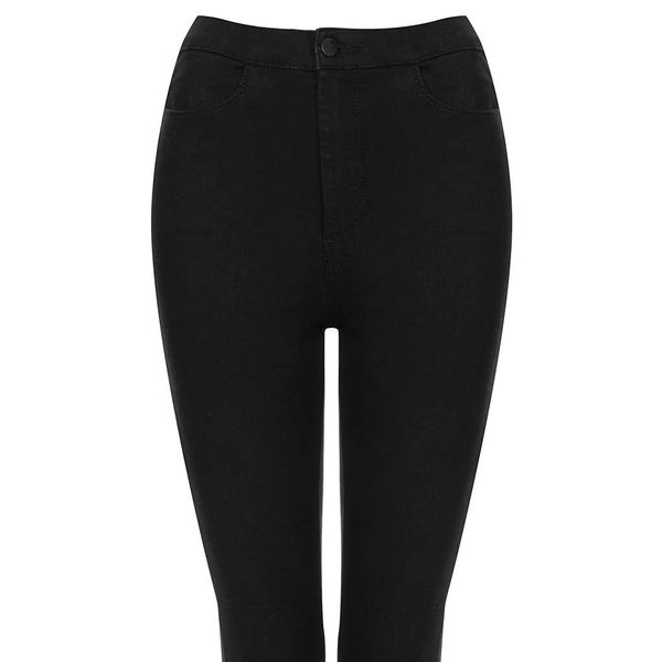 Topshop Moto Black Cropped Joni Jeans