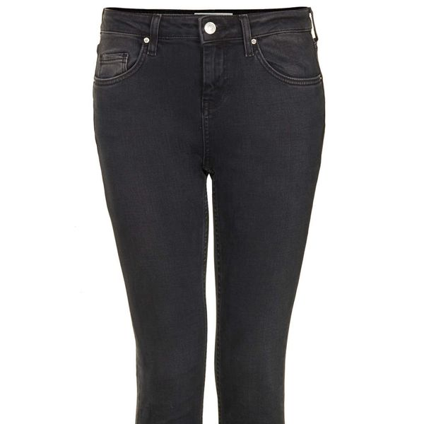 Topshop Moto New Wash Black Baxter Jeans