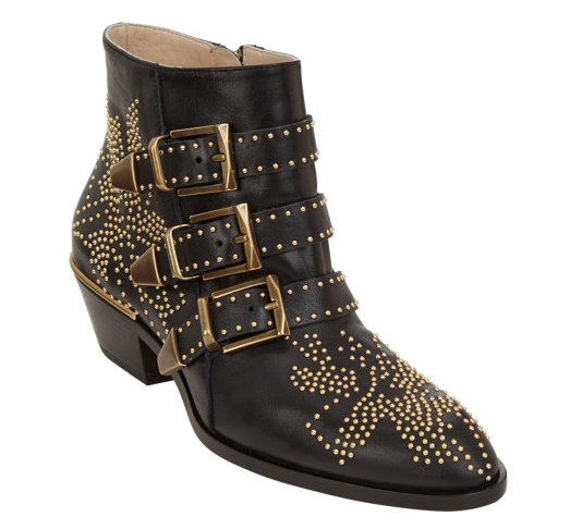 Chloé Suzanna Studded Ankle Boots