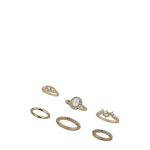 Topshop Sparkle Stone Finger and Midi Rings