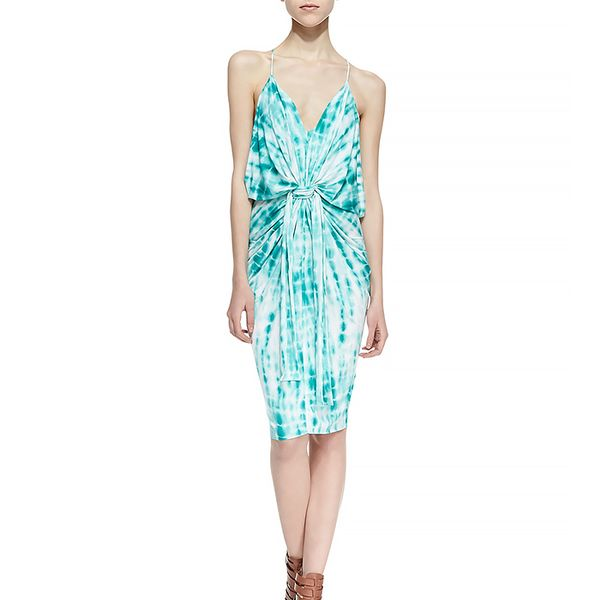 T Bags Tie-Dye Knotted Sheath Dress