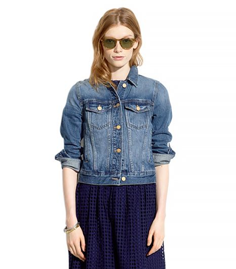 Madewell The Jean Jacket ($118) in Sea Glass 