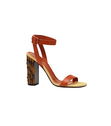 Gucci Leather Square Buckle Sandals