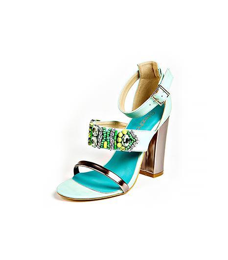 Boohoo Isla Metallic and Embellished Strapy Sandals