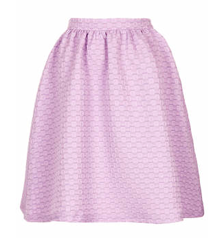 Topshop Texture Gathered Knee Midi Skirt
